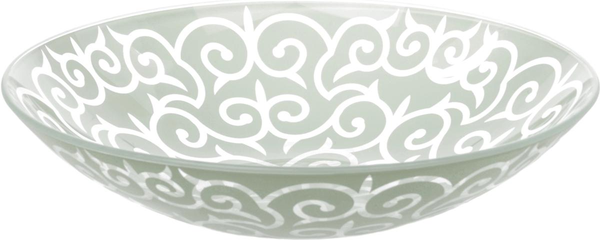 Тарелка Nina Glass Восток, цвет: серебристый, диаметр 22,5 см салатник nina glass ажур цвет сиреневый диаметр 16 см
