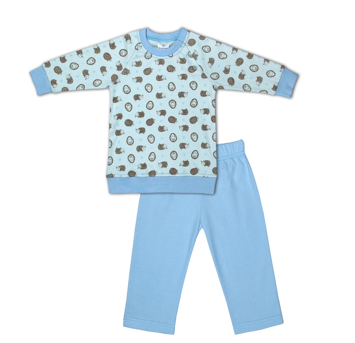 Комплект одежды для мальчика Мамуляндия: брюки, джемпер, цвет: голубой. 17-17003. Размер 92 водолазки и лонгсливы мамуляндия джемпер ягодки 17 206