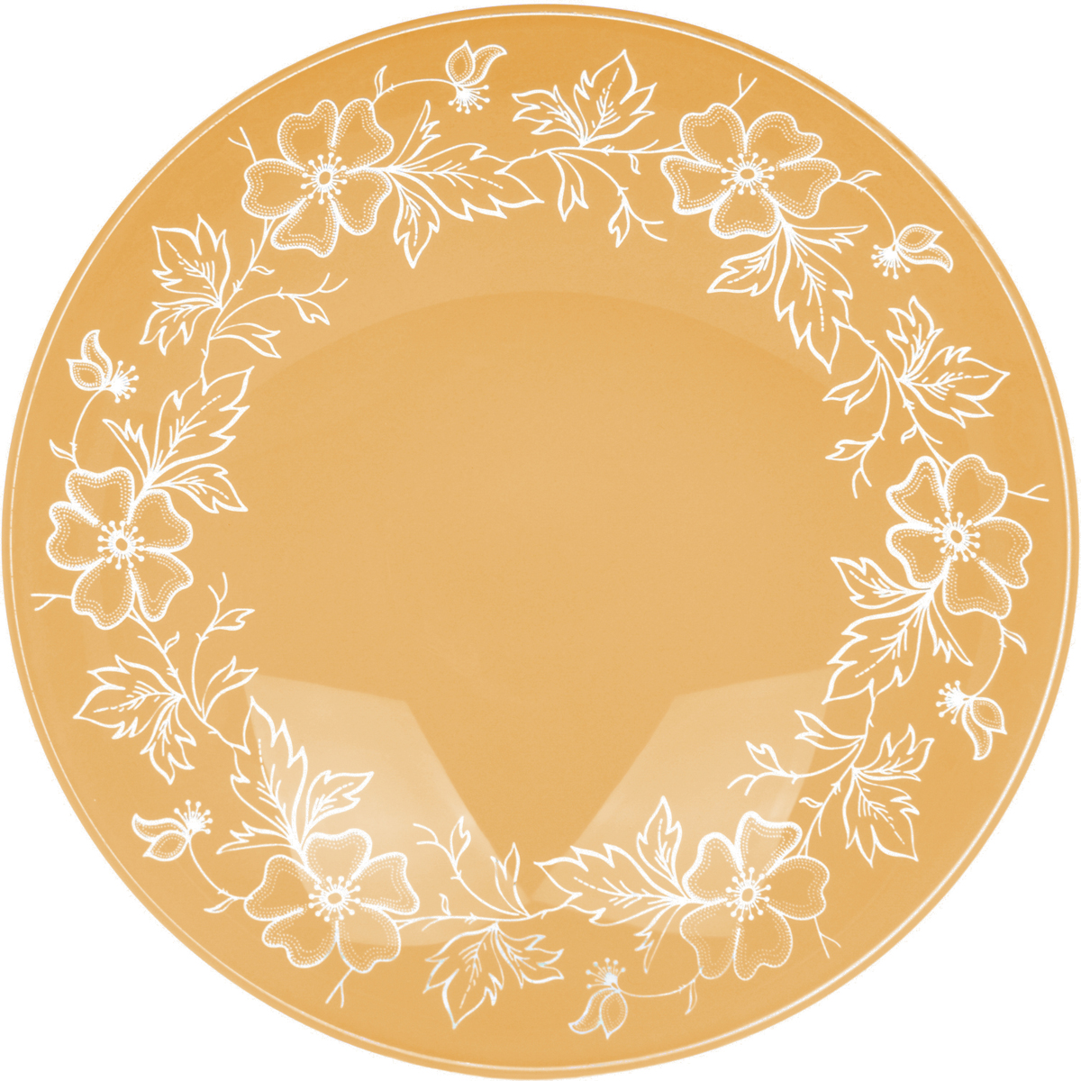 Тарелка Nina Glass Лара, цвет: оранжевый, диаметр 26 см салатник nina glass ажур цвет сиреневый диаметр 16 см