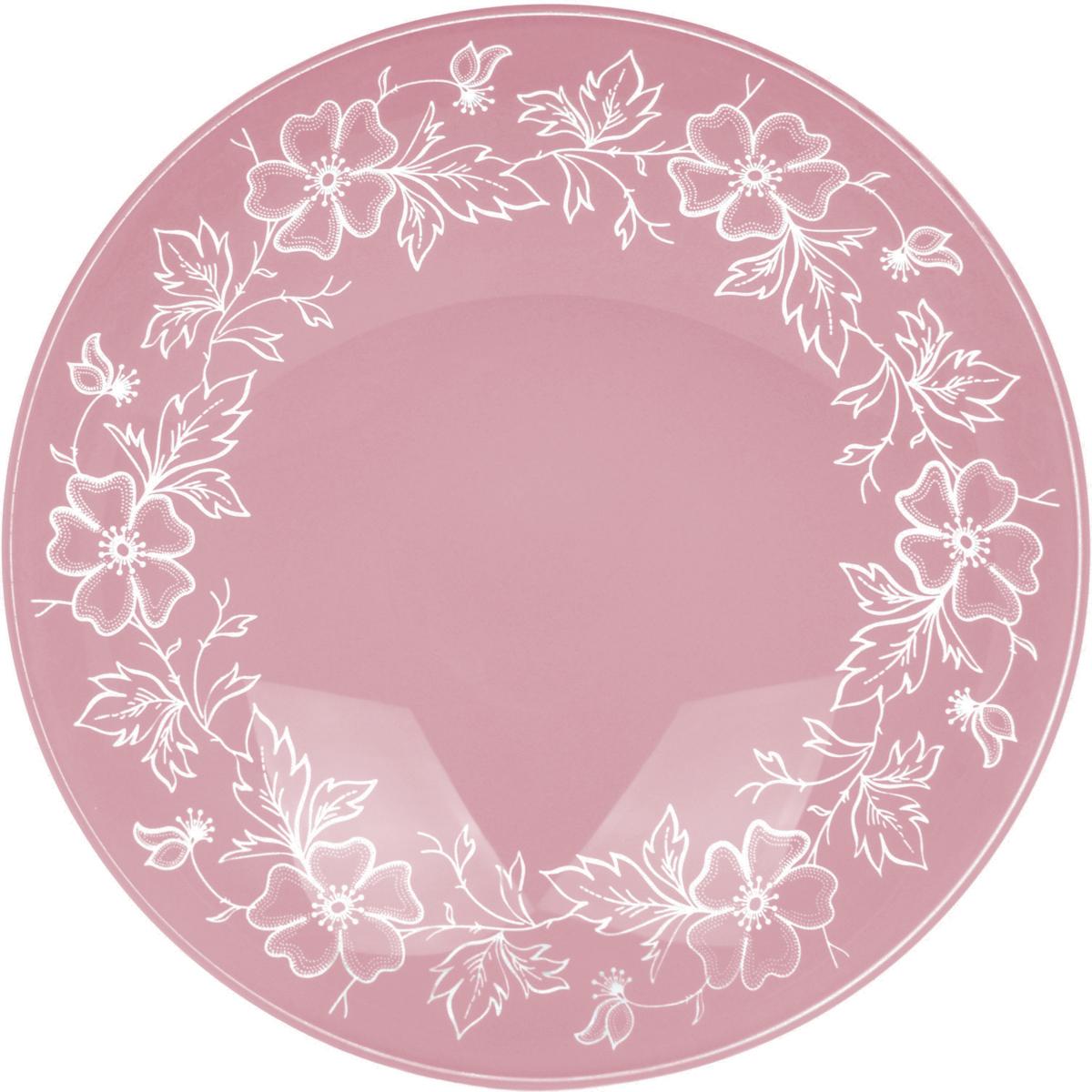 Тарелка Nina Glass Лара, цвет: розовый, диаметр 20 смNG85-200-075RСтеклянная посуда Никольского завода светотехнического стекла, известная под торговой маркой NinaGlass, успешно продается в российских магазинах. Продукция выглядит презентабельно, ассортимент весьма широк. Яркие, емкие, приятные тактильно салатники будут шикарно смотреться на обеденном столе. Салатники и блюда предназначены для сервировки стола. Пригодны для ежедневного использования.Цветные салатники и тарелки NinaGlass нельзя использовать в СВЧ и мыть в ПММ.