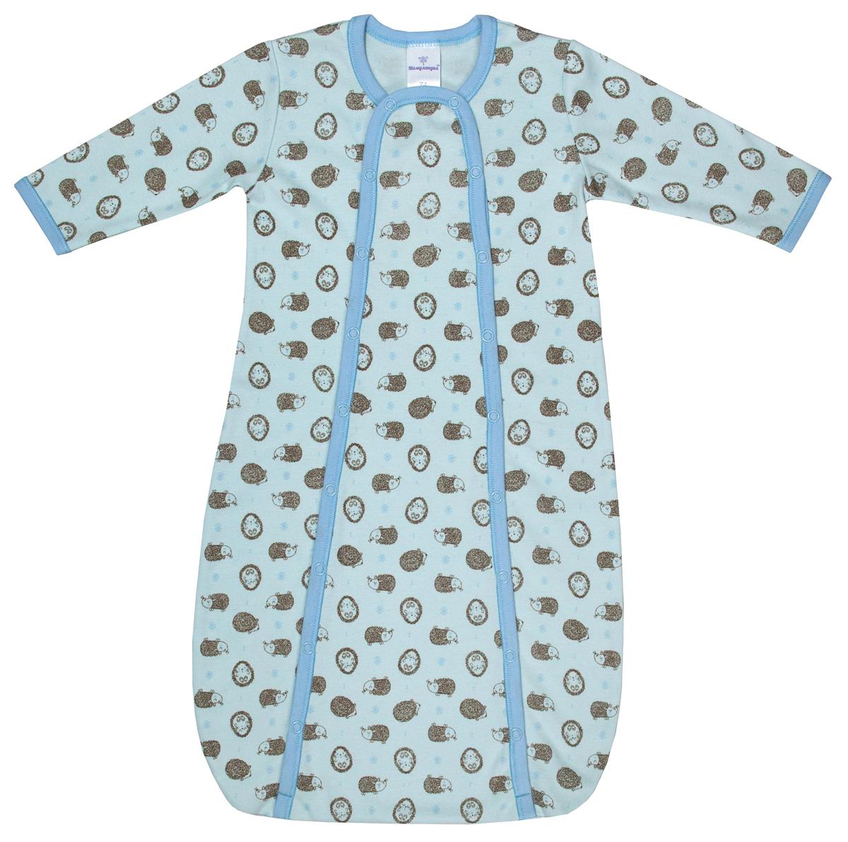 Конверт прогулочный для мальчика Мамуляндия Сказочный сон, цвет: голубой. 17-1706. Размер 62 кофта для мальчика мамуляндия сказочный сон цвет голубой 17 1704 размер 86