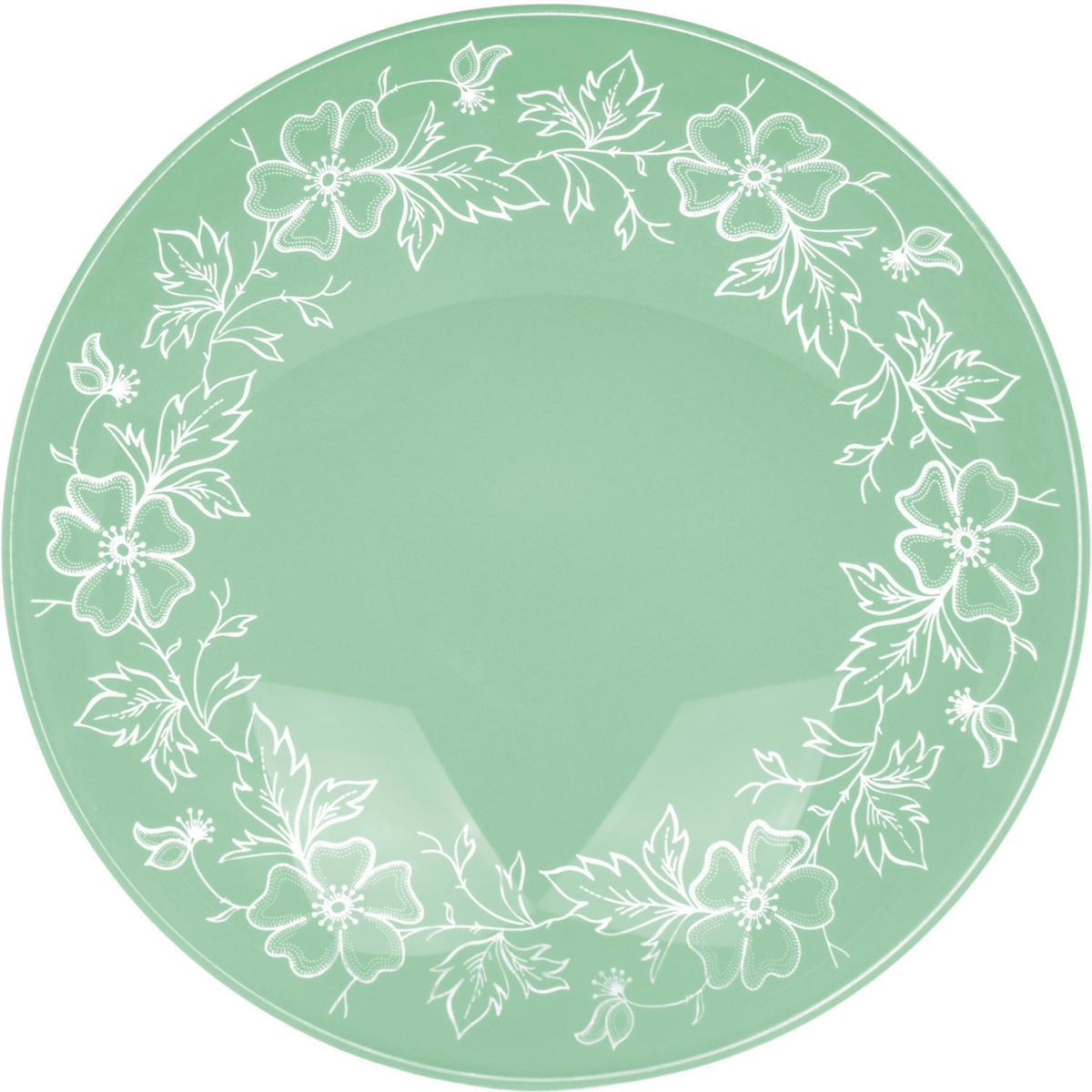 Тарелка Nina Glass Лара, цвет: светло-зеленый, диаметр 20 смNG85-200-075MСтеклянная посуда Никольского завода светотехнического стекла, известная под торговой маркой NinaGlass, успешно продается в российских магазинах. Продукция выглядит презентабельно, ассортимент весьма широк. Яркие, емкие, приятные тактильно салатники будут шикарно смотреться на обеденном столе. Салатники и блюда предназначены для сервировки стола. Пригодны для ежедневного использования.Цветные салатники и тарелки NinaGlass нельзя использовать в СВЧ и мыть в ПММ.