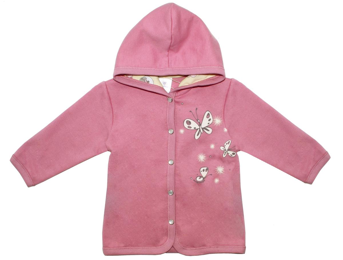 Кофта для девочки Мамуляндия Прогулка по облакам, цвет: розовый. 17-1400. Размер 74