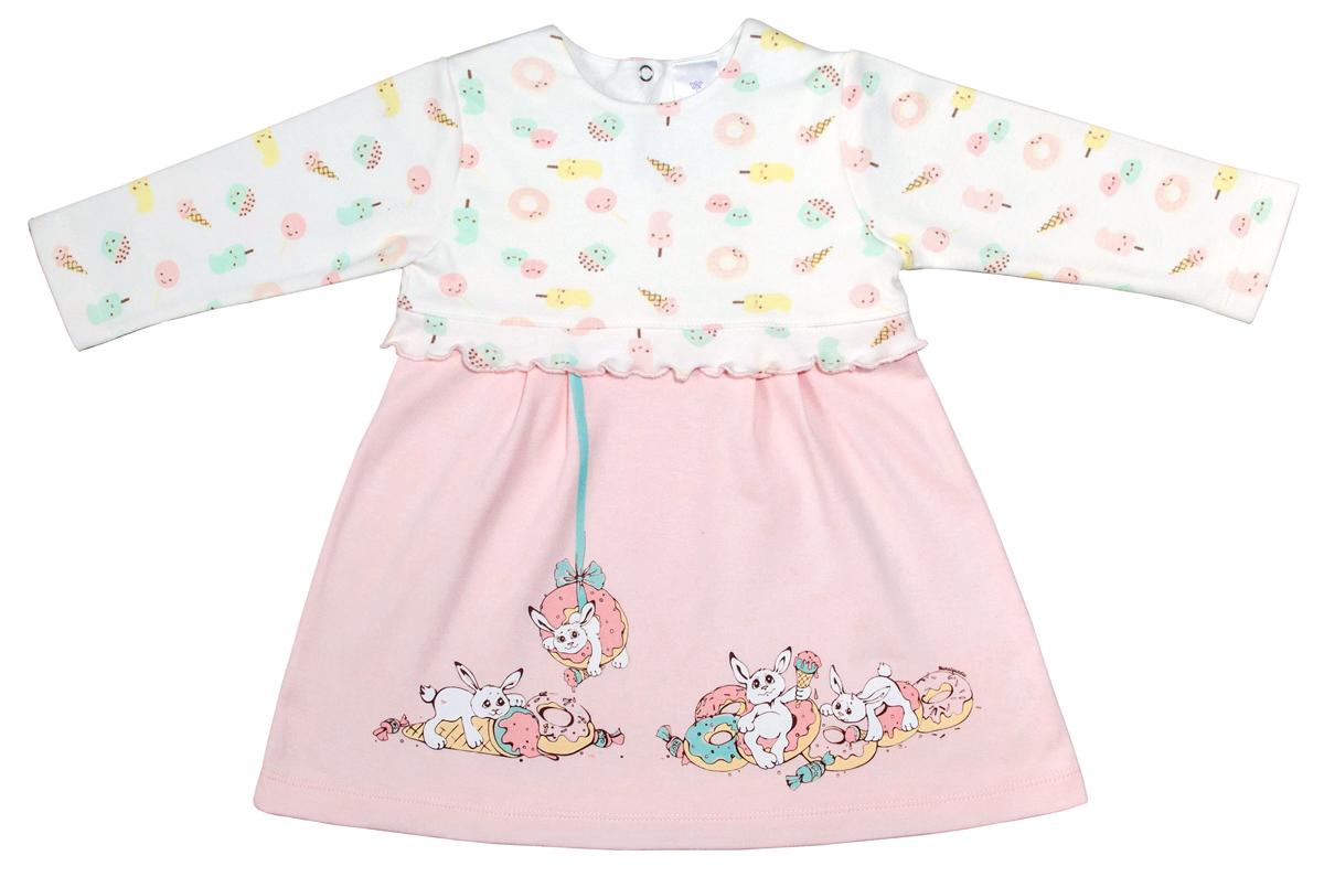 Платье для девочки Мамуляндия Сластена, цвет: розовый. 17-806. Размер 92 платье для девочки мамуляндия мультяшки девочки цвет розовый 17 606 размер 92