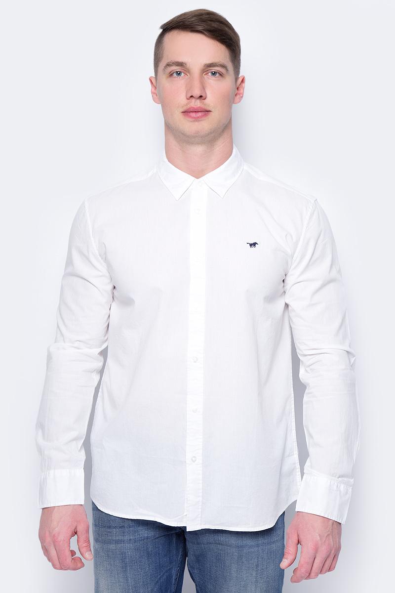 Рубашка мужская Mustang 1/1Slv_0/P_K, цвет: белый. 4602-4240-200. Размер XXL (54) футболка мужская mustang c neck tee цвет белый 8412 1059 200 размер xxl 54