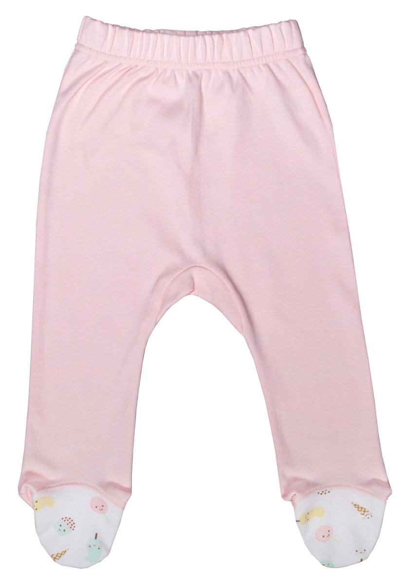Ползунки для девочки Мамуляндия Сластена, цвет: розовый. 17-805. Размер 8017-805Детские ползунки Мамуляндия Сластена выполнены из натурального хлопка. Модель с закрытыми ножками дополнена широким эластичным поясом и оформлена принтом.