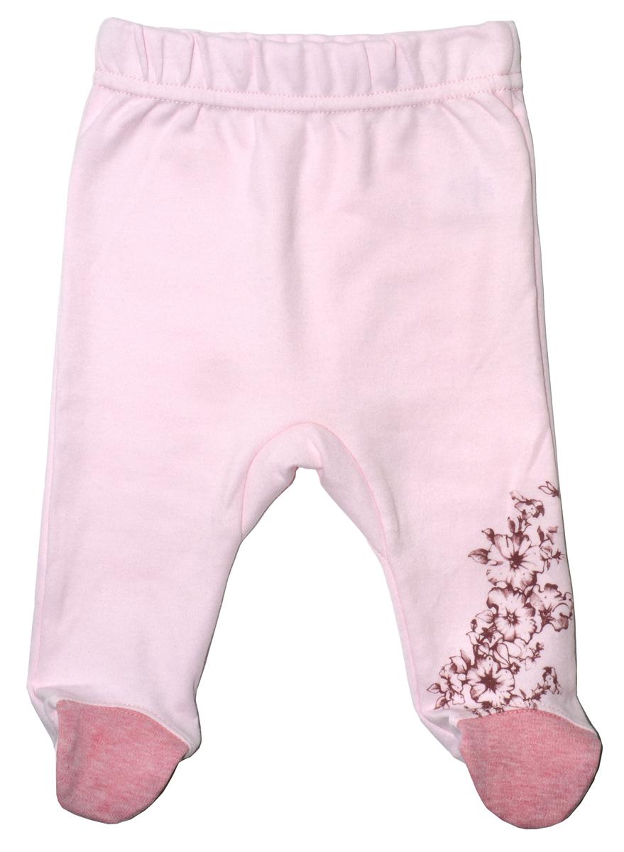 Ползунки для девочки Мамуляндия Цветочная, цвет: розовый. 17-2405. Размер 5617-2405Детские ползунки Мамуляндия Цветочная выполнены из натурального хлопка. Модель с закрытыми ножками дополнена широким эластичным поясом и оформлена принтом.
