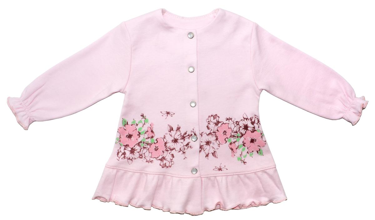 Распашонка для девочки Мамуляндия Цветочная, цвет: розовый. 17-2404. Размер 8017-2404Распашонка для девочки Мамуляндия Цветочная станет отличным дополнением к гардеробу вашего малыша. Изготовленная из натурального хлопка, она необычайно мягкая и легкая. Модель застегивается на кнопки.