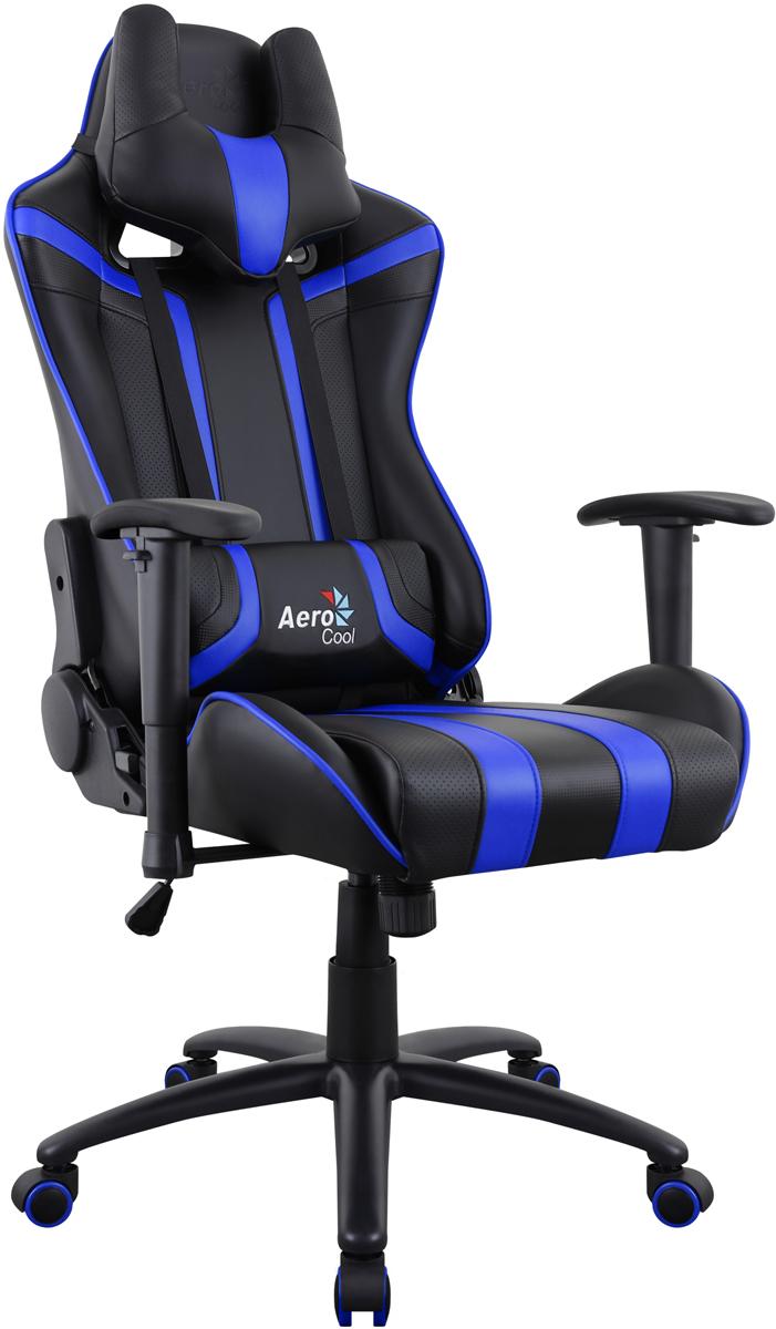 Aerocool AC120 AIR-BB, Black Blue игровое кресло