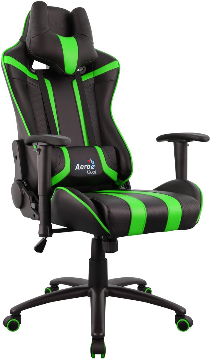 Aerocool AC120 AIR-BG, Black Green игровое кресло516338Профессиональное геймерское кресло AC120 AIR. Игровые кресла Aerocool сочетают в себе невероятную эргономику, эффектный дизайн и могут служить в качестве комфортного офисного кресла или стать верным спутником настоящего геймеру. Даже если пользователь проводит за компьютером много часов, благодаря «дышащей» поверхности кресла он все равно будет чувствовать себя комфортно и прохладно. Уникальная технология AIR – это привлекательное пористое покрытие, нетканые материалы премиум-класса и пенный наполнитель, которые обеспечивают отличную вентиляцию. Вместе с креслом вы получите многофункциональную подушку под шею, с которой играть, читать, учиться, смотреть ТВ или просто вздремнуть – одно удовольствие. Встроенный механизм «Бабочка» позволяет наклонять спинку кресла вперёд и назад с амплитудой от 3 до 18°. Если вам комфортней сидеть на кресле с неподвижной спинкой, специальный замок в той же части кресла позволяет плотно её зафиксировать. Вам захотелось поспать 20-30 минут чтобы подстегнуть память?А ещё вы хотите восстановить силы, когнитивные способности и вернуть своё желание творить? Тогда откиньте спинку кресла на 180°, ложитесь и наслаждайтесь сном... или просто разглядывайте потолок. Эту модель по достоинству оценят игроки, которым важен оригинальный внешний вид кресла. В нём продумана каждая мелочь, от стильного спортивного дизайна до покрытой ПВХ «под углеволокно» задней части спинки. Внимание к деталям очень важно, чтобы кресло отлично смотрелось с любой стороны!
