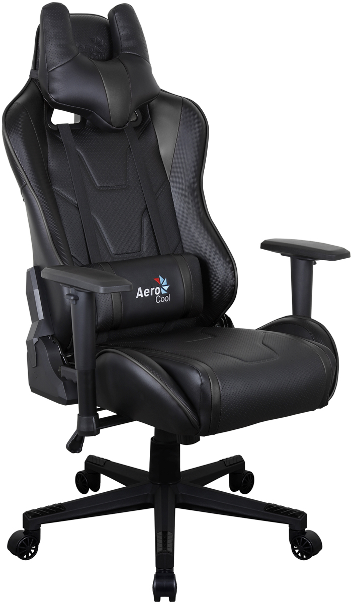 Aerocool AC220 AIR-B, Black игровое кресло516343Профессиональное геймерское кресло AC220 AIR сочетает в себе невероятную эргономику, эффектный дизайн и может служить в качестве комфортного офисного кресла или стать верным спутником настоящего геймера. Даже если пользователь проводит за компьютером много часов, благодаря дышащей поверхности кресла он все равно будет чувствовать себя комфортно и прохладно. Уникальная технология AIR - это привлекательное пористое покрытие, нетканые материалы премиум-класса и пенный наполнитель, которые обеспечивают отличную вентиляцию. Вместе с креслом вы получите многофункциональную подушку под шею, с которой играть, читать, учиться, смотреть ТВ или просто вздремнуть - одно удовольствие. Встроенный механизм Бабочка позволяет наклонять спинку кресла вперёд и назад с амплитудой от 3 до 18°. Если вам комфортней сидеть на кресле с неподвижной спинкой, специальный замок в той же части кресла позволяет плотно её зафиксировать. Вам захотелось поспать 20-30 минут чтобы подстегнуть память? А ещё вы хотите восстановить силы, когнитивные способности и вернуть своё желание творить? Тогда откиньте спинку кресла на 180°, ложитесь и наслаждайтесь сном... или просто разглядывайте потолок. Эту модель по достоинству оценят игроки, которым важен оригинальный внешний вид кресла. В нём продумана каждая мелочь, от стильного спортивного дизайна до покрытой ПВХ под углеволокно задней части спинки. Внимание к деталям очень важно, чтобы кресло отлично смотрелось с любой стороны!
