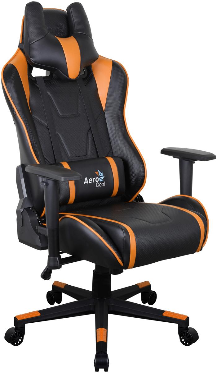 Aerocool AC220 AIR-BO, Black Orange игровое кресло516390Профессиональное геймерское кресло AC220 AIR сочетает в себе невероятную эргономику, эффектный дизайн и может служить в качестве комфортного офисного кресла или стать верным спутником настоящего геймера. Даже если пользователь проводит за компьютером много часов, благодаря дышащей поверхности кресла он все равно будет чувствовать себя комфортно и прохладно. Уникальная технология AIR - это привлекательное пористое покрытие, нетканые материалы премиум-класса и пенный наполнитель, которые обеспечивают отличную вентиляцию. Вместе с креслом вы получите многофункциональную подушку под шею, с которой играть, читать, учиться, смотреть ТВ или просто вздремнуть - одно удовольствие. Встроенный механизм Бабочка позволяет наклонять спинку кресла вперёд и назад с амплитудой от 3 до 18°. Если вам комфортней сидеть на кресле с неподвижной спинкой, специальный замок в той же части кресла позволяет плотно её зафиксировать. Вам захотелось поспать 20-30 минут чтобы подстегнуть память? А ещё вы хотите восстановить силы, когнитивные способности и вернуть своё желание творить? Тогда откиньте спинку кресла на 180°, ложитесь и наслаждайтесь сном... или просто разглядывайте потолок. Эту модель по достоинству оценят игроки, которым важен оригинальный внешний вид кресла. В нём продумана каждая мелочь, от стильного спортивного дизайна до покрытой ПВХ под углеволокно задней части спинки. Внимание к деталям очень важно, чтобы кресло отлично смотрелось с любой стороны!