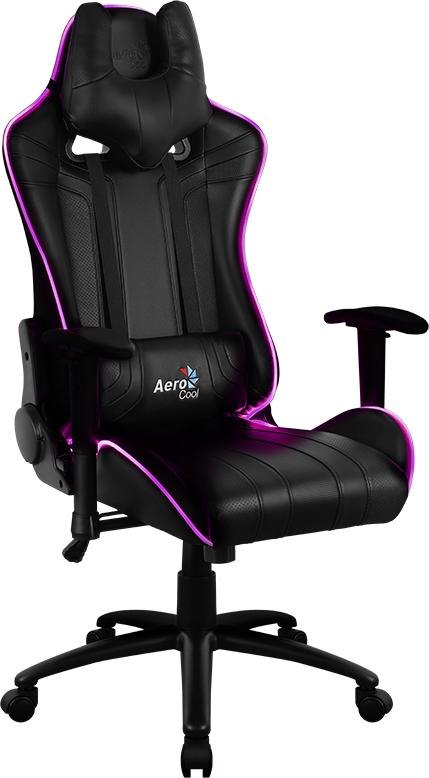 Aerocool AC120 RGB-B, Black игровое кресло516335Игровое кресло AC120 по внешнему виду напоминает сидение спортивной машины. С ним ваша комната превратится в настоящий геймерский болид. Почувствуйте мягкость качественной искусственной перфорированной кожи и рельеф отделки под углеволокно. Захотелось немного вздремнуть, чтобы повысить продуктивность, встряхнуть свою память и пополнить запасы энергии? Просто откиньте спинку кресла на 180°, ложитесь поудобнее и наслаждайтесь лёгким сном или отдыхом. Даже если пользователь проводит за компьютером много часов, благодаря «дышащей» поверхности кресла он все равно будет чувствовать себя комфортно и прохладно. Уникальная технология AIR – это привлекательное пористое покрытие, нетканые материалы премиум-класса и пенный наполнитель, которые обеспечивают отличную вентиляцию. Встроенный механизм «Бабочка» позволяет наклонять спинку кресла вперёд и назад с амплитудой от 3 до 18°. При этом силу, нужную для наклона, легко можно изменить при помощи специального пружинного механизма под сиденьем. Если вам комфортней сидеть на кресле с неподвижной спинкой, специальный замок в той же части кресла позволяет плотно её зафиксировать. В модели AC120 AIR RGB используется запатентованная Aerocool система подсветки с оптоволокном. RGB-подсветка работает от портативного зарядного устройства с разъёмом USB, которое можно удобно разместить в кармане в нижней части кресла. (портативное зарядное устройство и батарейки для пульта в комплект поставки не входят)