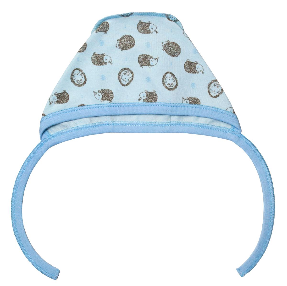 Чепчик для мальчика Мамуляндия Сказочный сон, цвет: голубой. 17-1708. Размер 44 кофта для мальчика мамуляндия сказочный сон цвет голубой 17 1704 размер 86