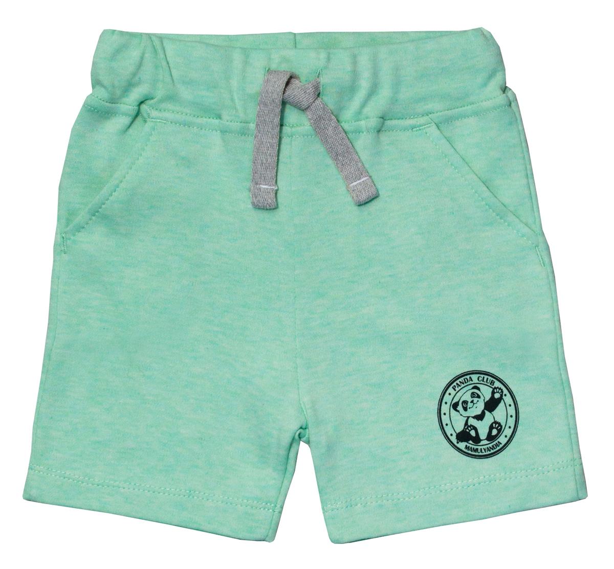 Шорты для мальчика Мамуляндия Панда, цвет: зеленый. 17-907. Размер 8017-907Детские шорты Мамуляндия Панда выполнены из натурального хлопка. Модель дополнена широким поясом с кулиской и двумя боковыми карманами.