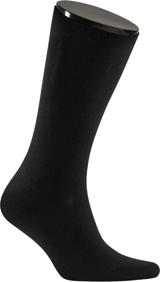 Носки мужские Teller Optima Bamboo, цвет: черный. OA11302/101. Размер 42/43OA11302/101Однотонные классические носки от Teller выполнены из бамбукового трикотажа. Бамбук - мягкий и комфортный материал. На паголенке специальная широкая резинка, не сдавливающая ногу.