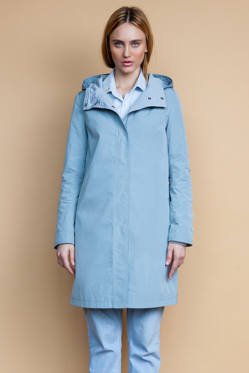 Куртка женская Clasna, цвет: голубой. CW18C-158FW(547). Размер XL (48) куртка утепленная clasna clasna cl016ewyfa03