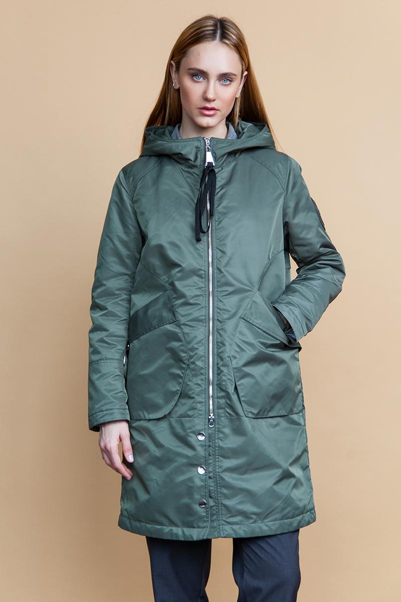 Куртка женская Clasna, цвет: зеленый. CW18C-022CW(485). Размер XXL (50) куртка женская clasna цвет темно серый cw18c 8603cw размер xxxl 52