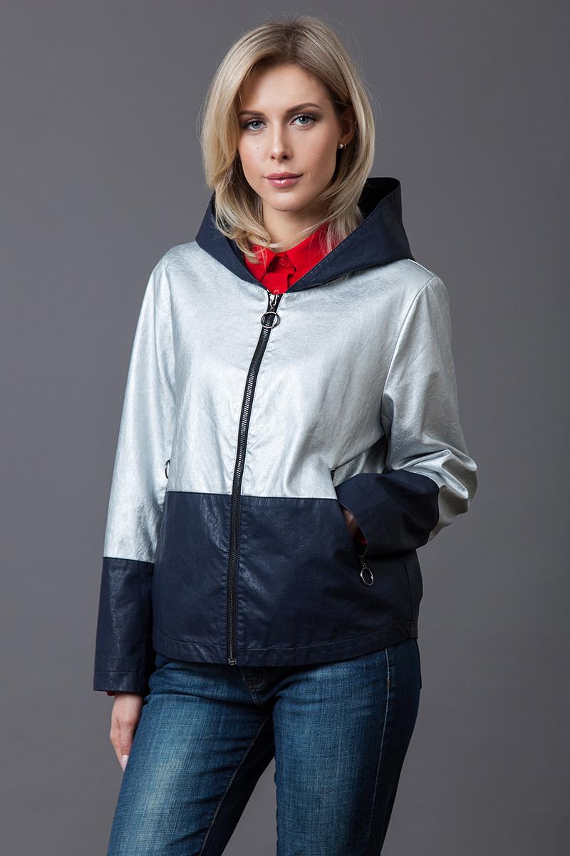Купить Куртка женская Malinardi, цвет: серо-синий. MR18C-16714(1). Размер L (46)