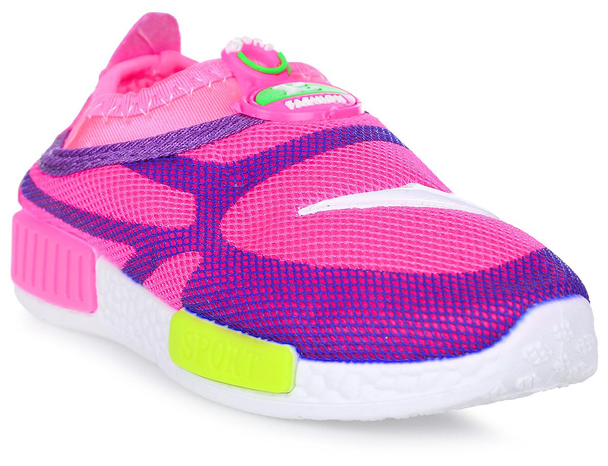 Кроссовки детские GFB, цвет: розовый. G89. Размер 25G89Детские кроссовки от GFB без шнуровки выполнены из дышащего текстиля. Подкладка и стелька из текстиля гарантируют комфорт при носке. Гибкая и легкая подошва, выполненная из ПВХ, долговечна и обеспечивает высокую устойчивость к деформациям.