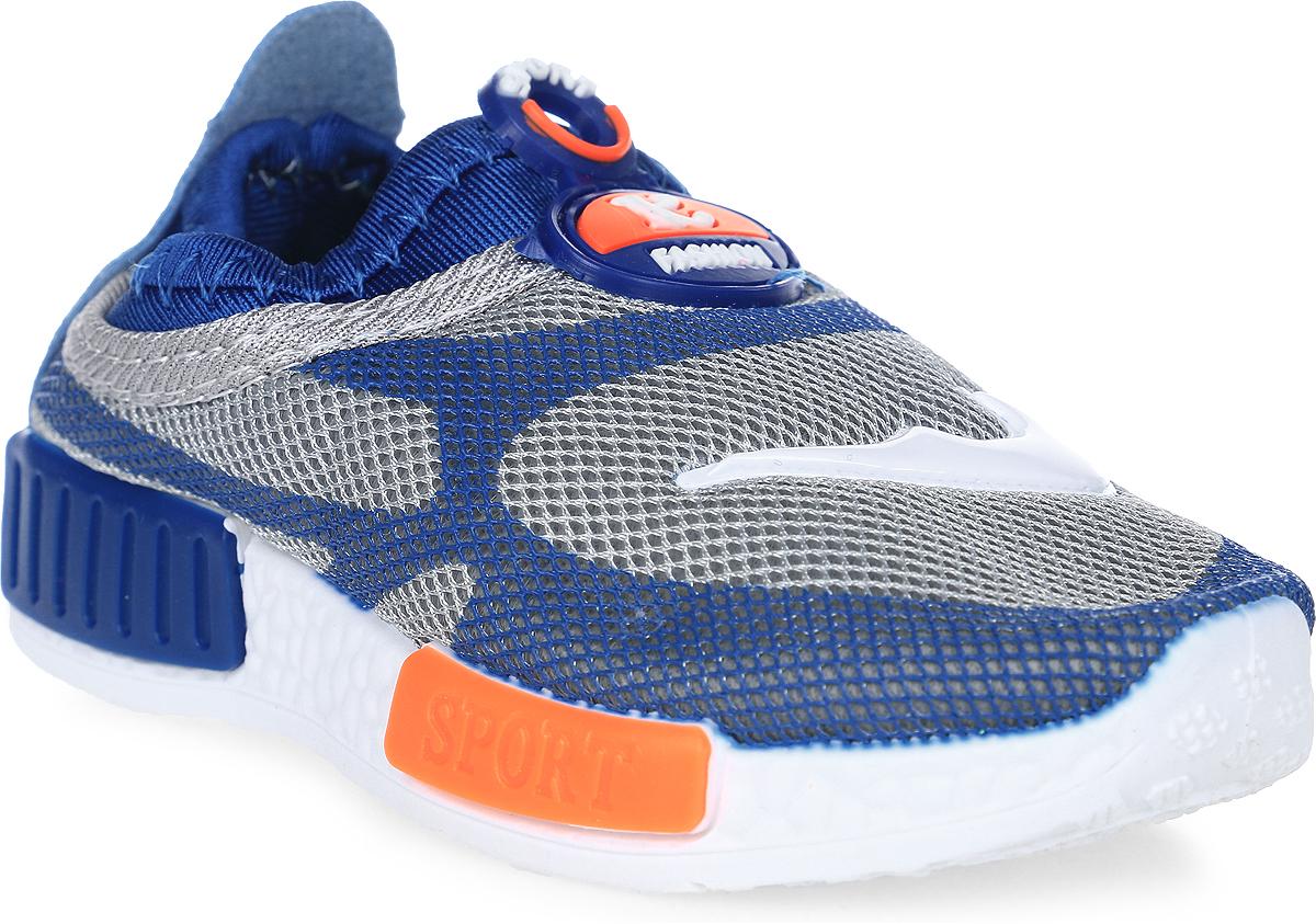 Кроссовки детские GFB, цвет: синий. G89. Размер 22G89Детские кроссовки от GFB без шнуровки выполнены из дышащего текстиля. Подкладка и стелька из текстиля гарантируют комфорт при носке. Гибкая и легкая подошва, выполненная из ПВХ, долговечна и обеспечивает высокую устойчивость к деформациям.