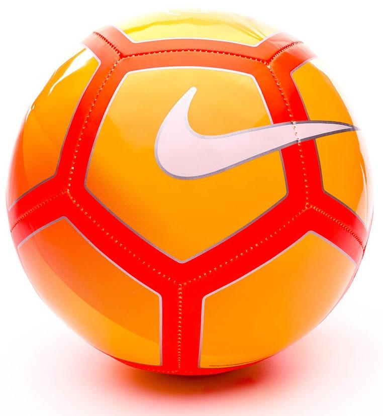 Мяч футбольный Nike Premier League Pitch Football, цвет: оранжевый. Размер 5SC3137-886Футбольный мяч Premier League Pitch с высококонтрастной графикой хорошо заметен во время игры и тренировок. Прочная упругая конструкция обеспечивает точную траекторию полета мяча. Конструкция из 32 панелей для прочности. Машинная строчка на покрышке из материала TPU для стабильной игры. Эмблема Английской Премьер-лиги по центру мяча.