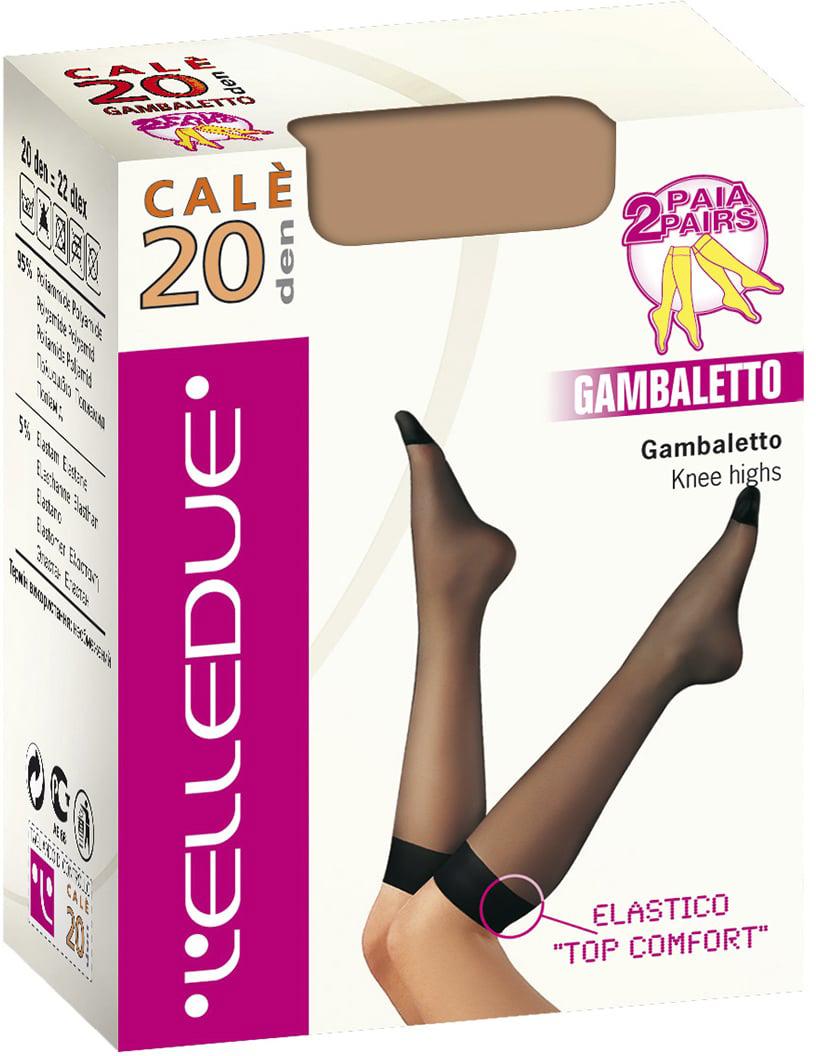 Гольфы женские LElledue Cale 20, цвет: Naturel (бежевый), 2 пары. Размер универсальныйCale 20Гольфы женские LElledue Cale выполнены из полиамида и эластана. Модель с резинкой топ комфорт.