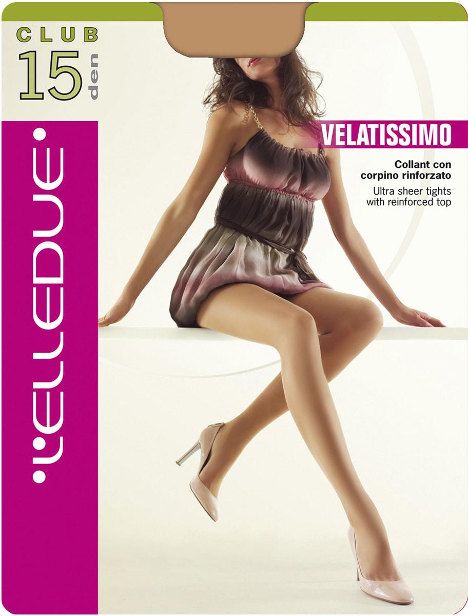 Колготки женские LElledue Club 15, цвет: Moka (коричневый). Размер 3Club 15Тонкие колготки с усиленными шортиками.