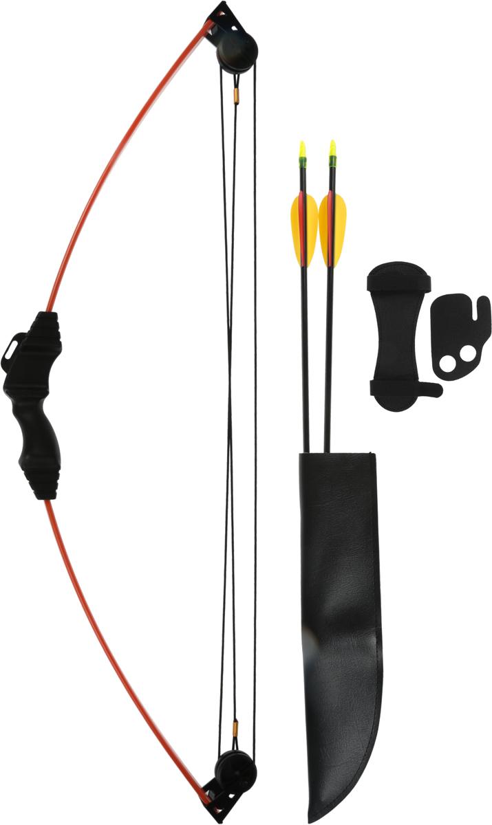 Лук блочный Man Kung MK-CB008, для начинающих, с комплектом аксессуаров, цвет: оранжевый, 10 Lbs man kung 16