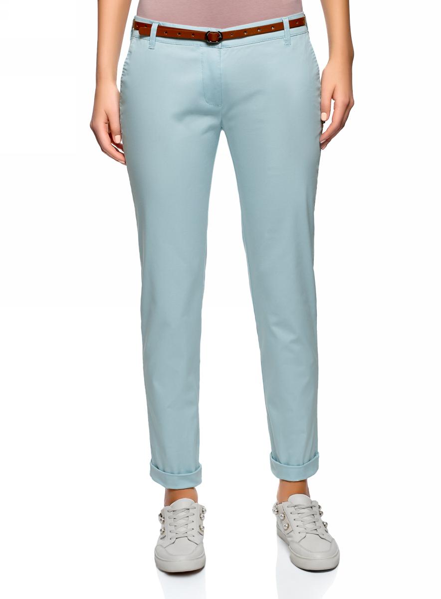 Купить Брюки женские oodji Ultra, цвет: голубой. 11706190-5B/32887/7000N. Размер 34 (40-170)