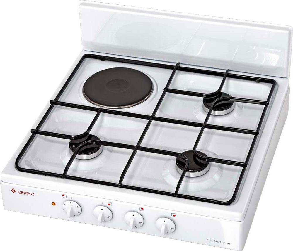 Gefest ПГЭ 910-01, White плита комбинированная комбинированная плита gefest пгэ 6102 02 0001