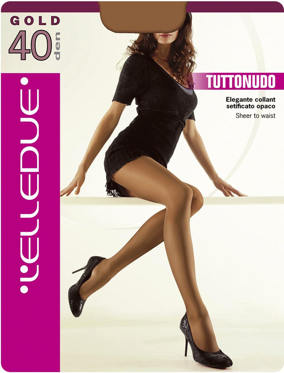 Колготки женские LElledue Gold 40, цвет: Nero (черный). Размер 4Gold 40Шелковистые матовые колготки с эффектом обнаженного тела. Модель без шортиков, ластовица из хлопка, плоские швы, усиленный мысок.