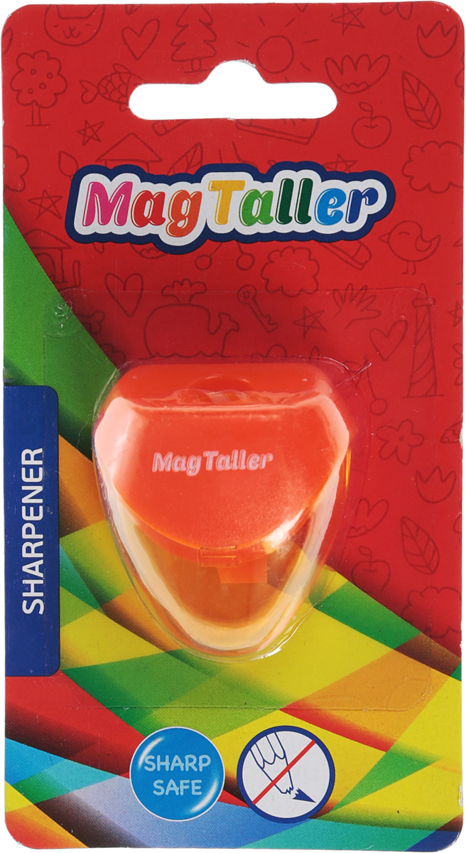 MagTaller Точилка Astia цвет оранжевый604204Точилка MagTaller Astia предназначена для затачивания классических простых и цветных утолщенных карандашей.В наборе точилка из прочного пластика с контейнером для стружек. Острые лезвия обеспечивают высококачественную и точную заточку деревянных карандашей.