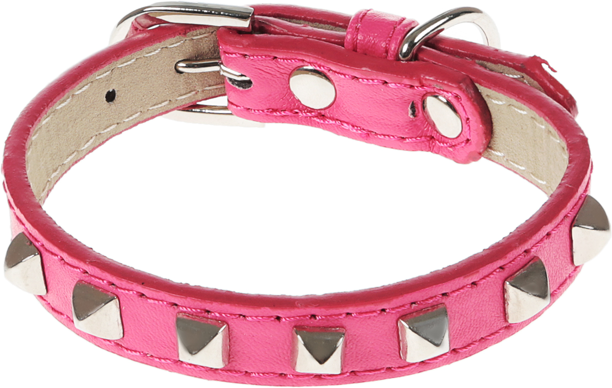 Ошейник для собак GLG, цвет: розовый, 1,27 х 28 смAMG0835-28