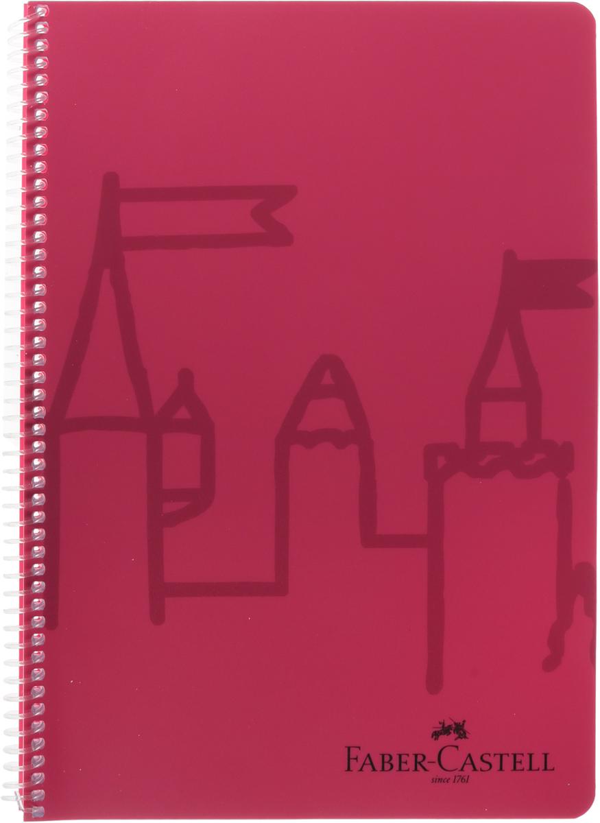 Faber-Castell Castle, без разметки, цвет: красный, 80 листов507036_красныйОригинальный блокнот Faber-Castell Castle в твердой пластиковой обложке подойдет для памятных записей, любимых стихов и многого другого.Внутренний блок состоит из 80 листов без разметки. Блокнот скреплен спиралью. Такой блокнот станет вашим верным помощником,а также отличным подарком для в близких и друзей.