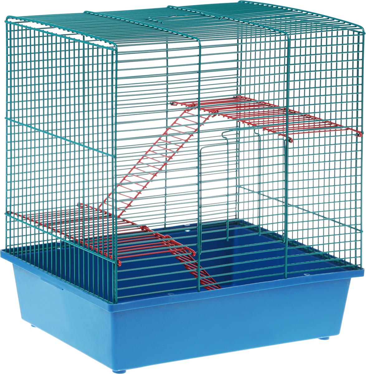 Клетка для грызунов Велес Lusy Hamster-3, 3-этажная, 35 х 26 х 40 см310Качественные и красивые клетки Велес для грызунов дадут вам и вашему любимцу уверенность в том, что у него есть свой дом, в котором комфортно и удобно.