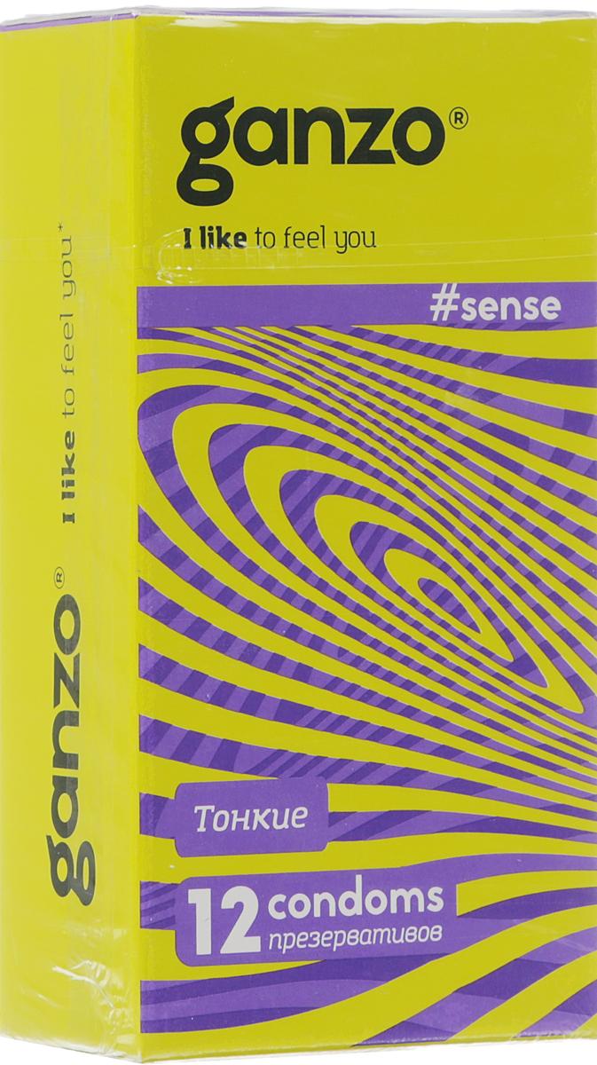 Ganzo Презервативы Sense, ультратонкие, 12 шт