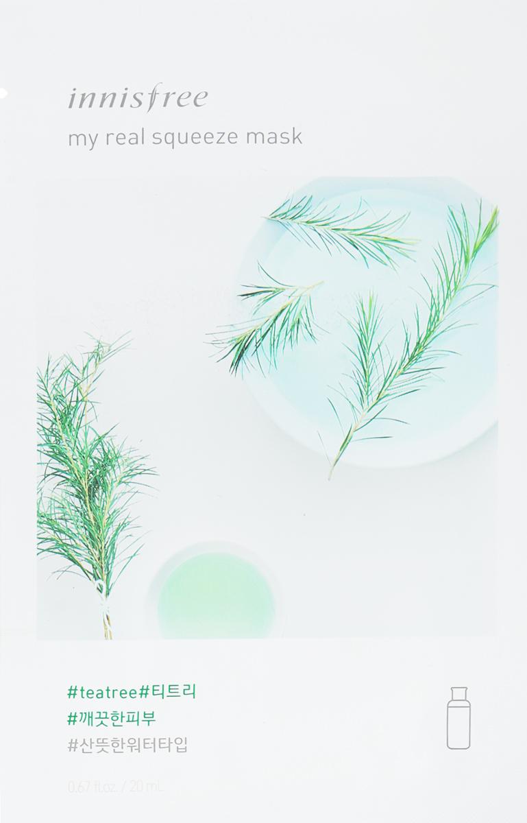 Innisfree Its Real Маска для лица с экстрактом чайного дерева, 20 млУТ-00000257Маска с натуральным соком листьев чайного дерева придает эластичность и здоровый вид коже, обладает увлажняющими и успокаивающими свойствами. Экстракт чайного дерева - мощный природный антисептик, обладает бактерицидными, противогрибковыми, противовирусными свойствами, эффективно воздействует на проблемную кожу, устраняет акне, регулирует выделение кожного жира и снимает раздражение. Уважаемые клиенты! Обращаем ваше внимание на то, что упаковка может иметь несколько видов дизайна. Поставка осуществляется в зависимости от наличия на складе.