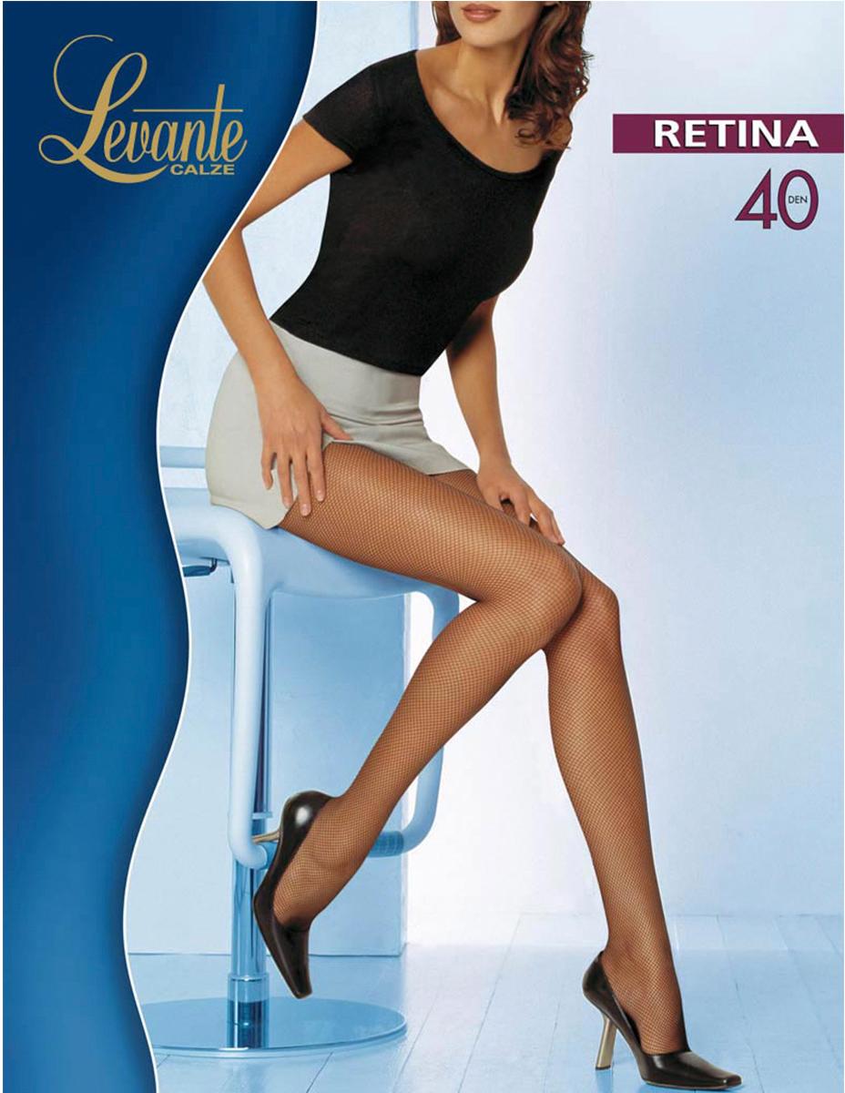 Колготки женские Levante Retina 40, цвет: Glace (темно-бежевый). Размер 3/4Retina 40Колготки в мелкую сеточку от Levante. Ластовица из хлопка.