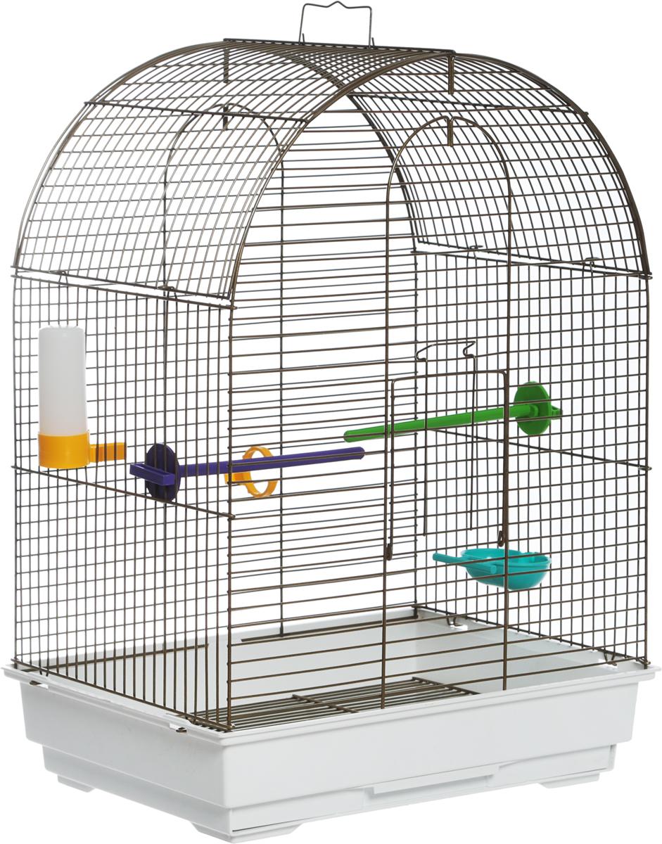 Клетка для птиц Велес  Lusy Gold , разборная, цвет: белый, 30 х 42 х 65 см - Клетки, вольеры, будки