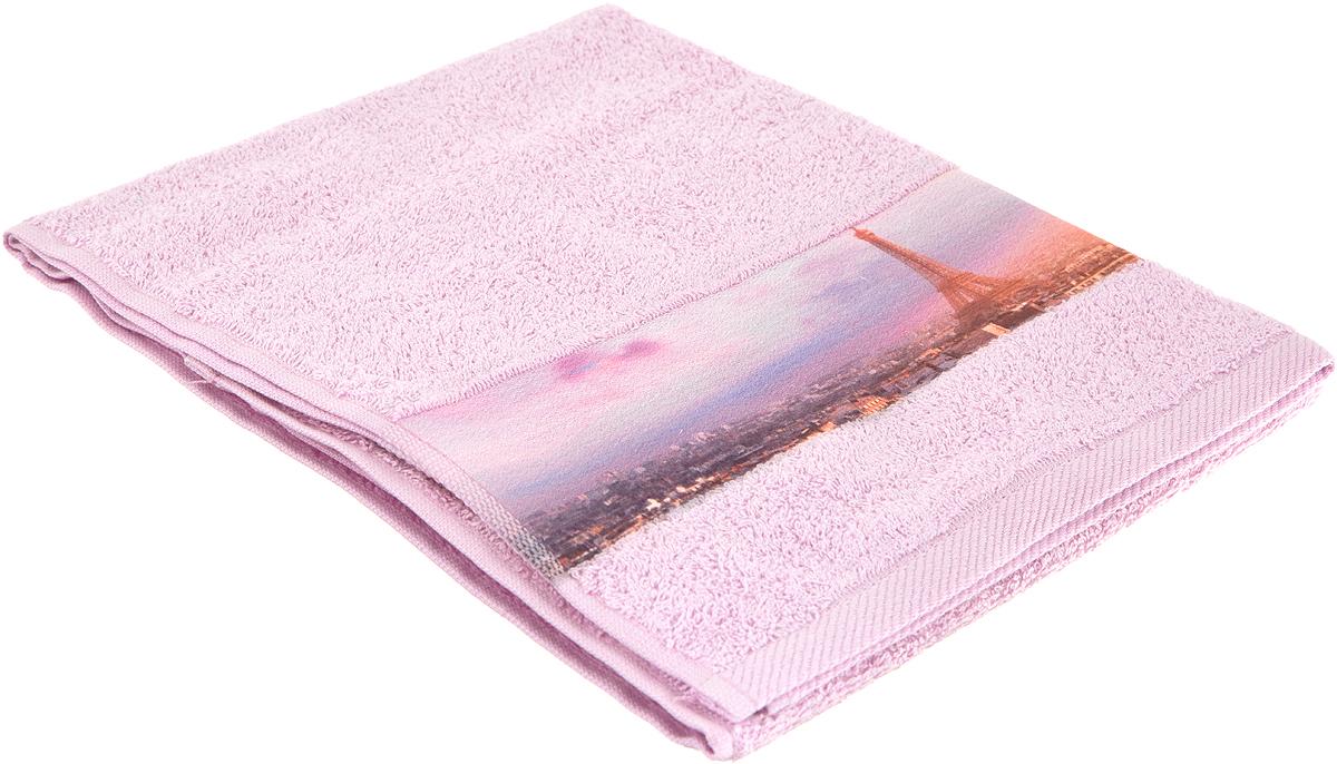 Полотенце для лица Aquarelle Париж, цвет: холодный розовый, 50 х 90. 710497 полотенце махровое aquarelle таллин 1 цвет ваниль 50 х 90 см 707762