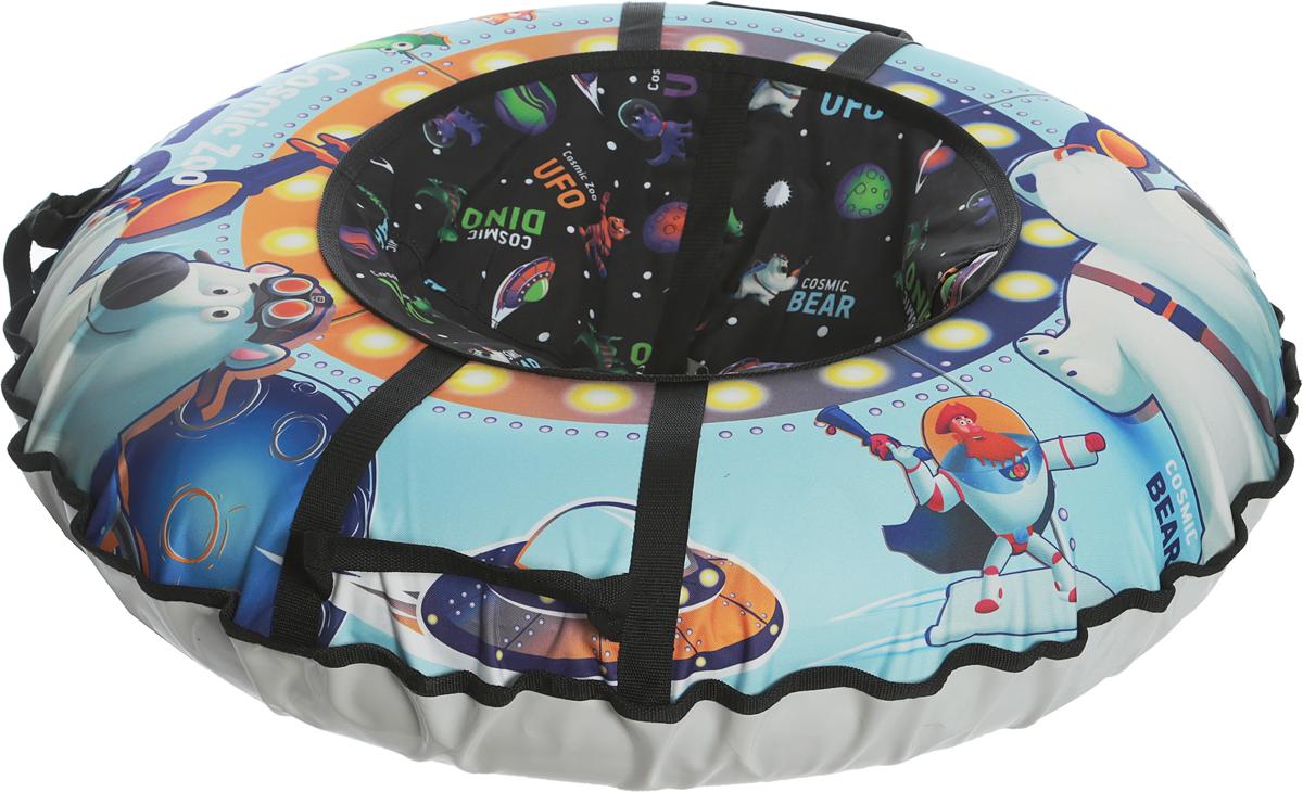 Тюбинг Small Rider  Cosmic Zoo UFO. Медвежонок , цвет: синий, 95 см - Тюбинги