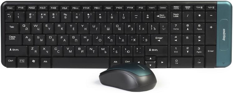 SmartBuy SBC-222358AG-K, Black клавиатура + мышь клавиатура smartbuy sbk 206us k black usb