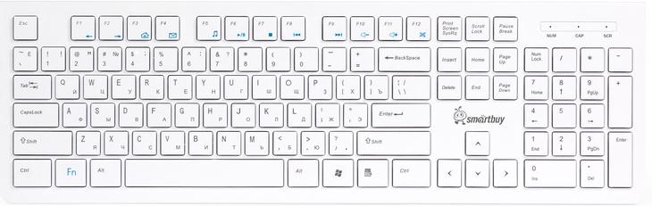 SmartBuy SBK-206US-W USB, White клавиатура проводная клавиатура smartbuy sbk 206us k black usb