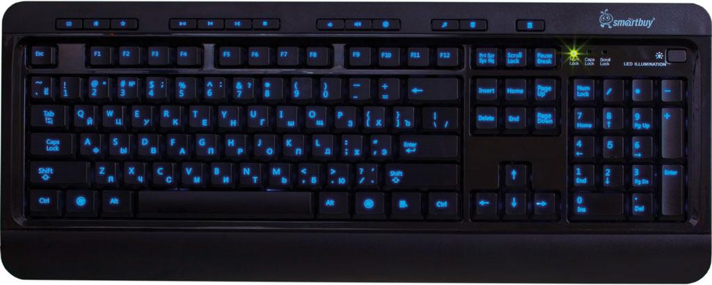 SmartBuy SBK-302U-K USB, Black клавиатура проводная с подсветкой клавиатура smartbuy sbk 206us k black usb