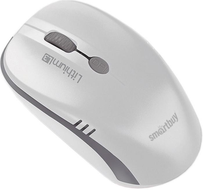 SmartBuy ONE 344CAG, White Grey мышь беспроводная с USB-зарядкой