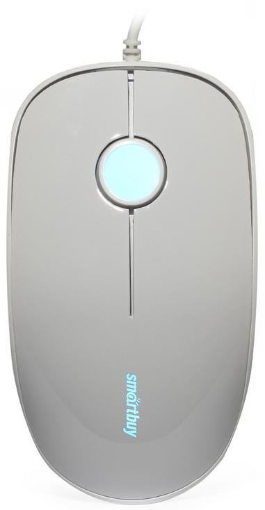 SmartBuy SBM-349-W, White мышь проводная с подсветкойSBM-349-WМышь проводная с подсветкой Smartbuy 349 белая (SBM-349-W)/120/