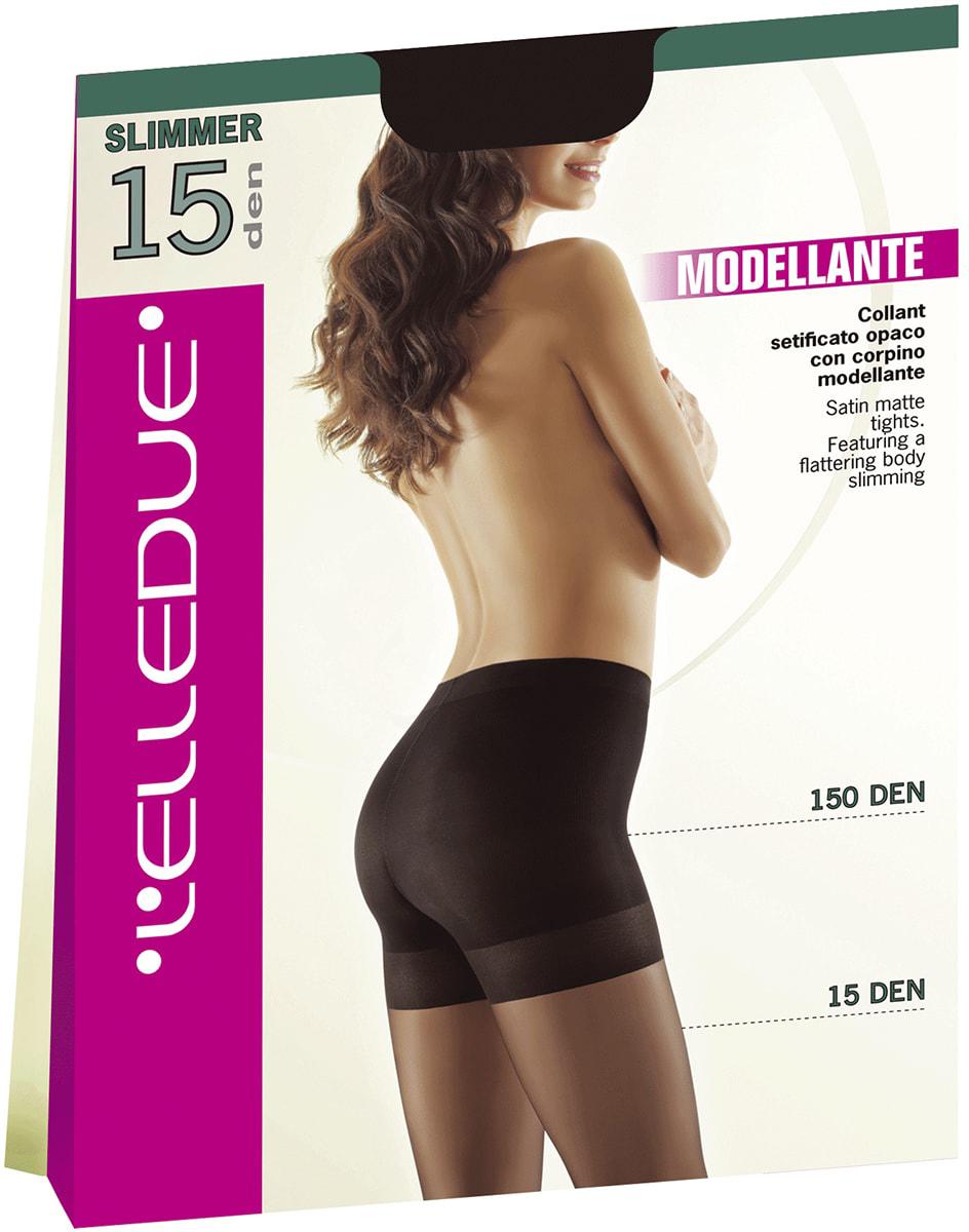 Колготки женские LElledue Slimmer 15, цвет: Nero (черный). Размер 4Slimmer 15Тонкие колготки, которые моделируют фигуру благодаря плотным шортикам 150 den. Ластовица из хлопка, усиленный мысок.