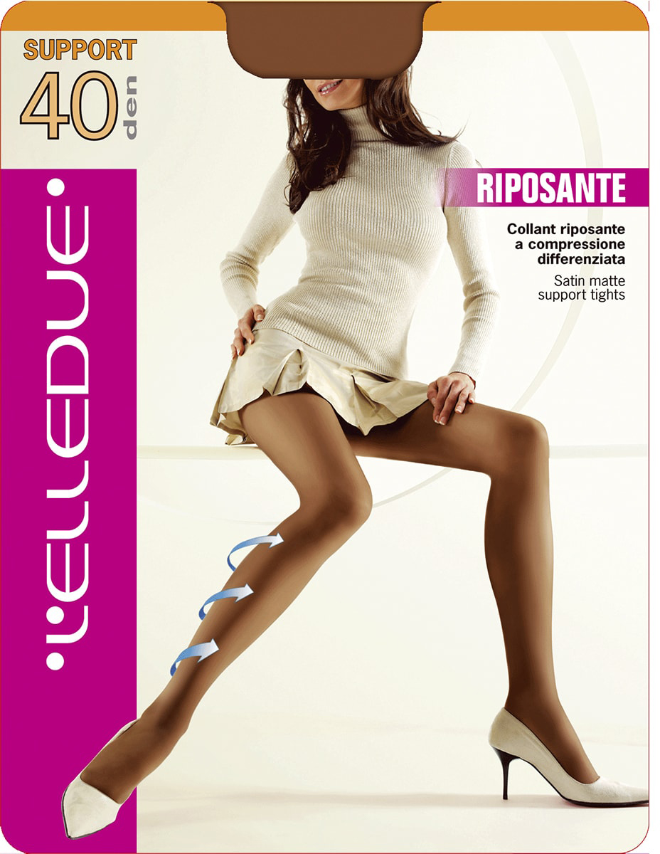 Колготки женские LElledue Support 40, цвет: Fumo (серый). Размер 4Support 40Шелковистые матовые поддерживающие колготки с распределенным давлением. Модель с усиленными шортиками.