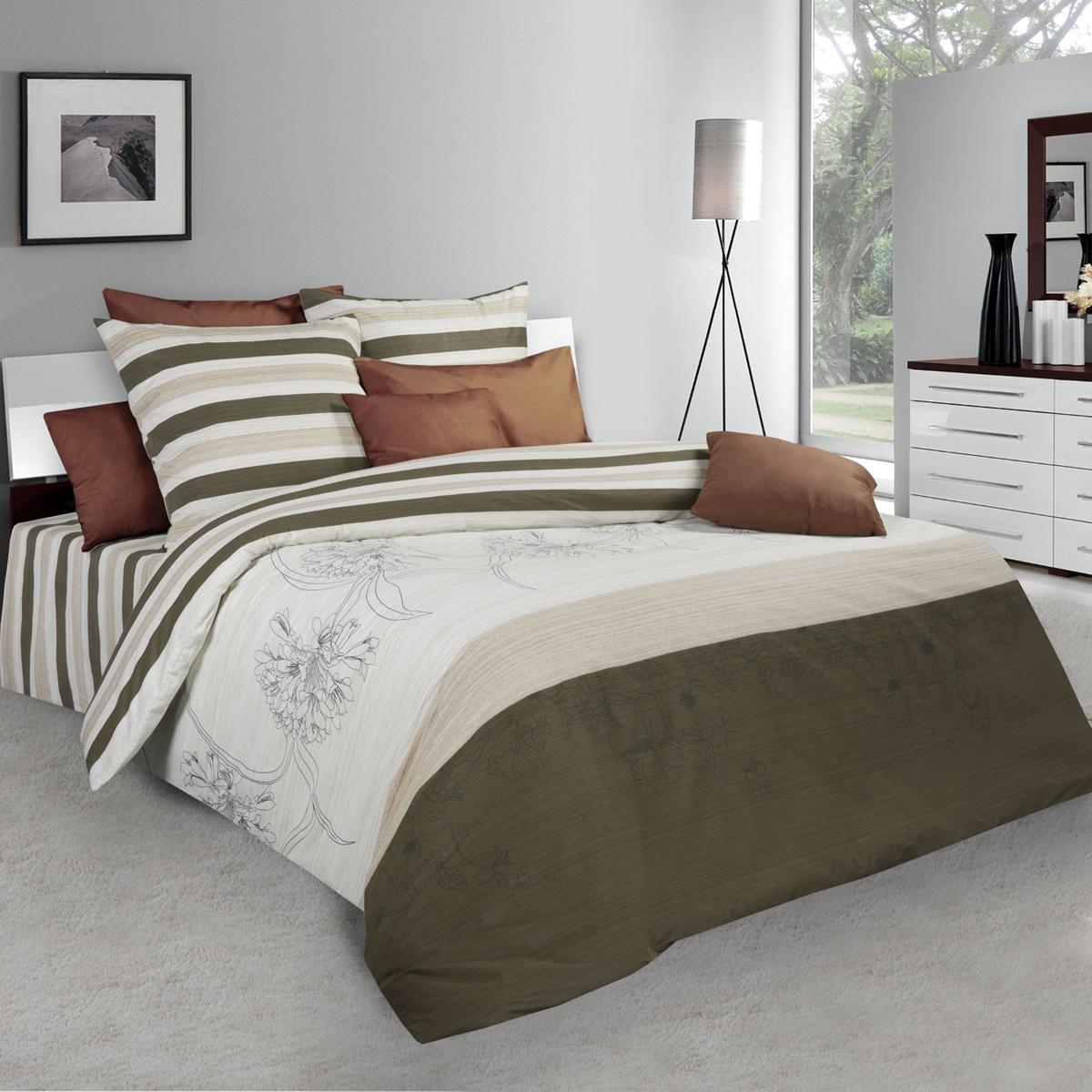 Комплект белья Guten Morgen, 1,5-спальный, наволочки 70х70. Пг-10952-143-150-70Пг-10952-143-150-70Не отказывайте себе в удовольствии оценить широкий спектр дизайнов, включающий в себя большое количество стилей и разнообразных мотивов. Комплект белья Guten Morgen - свежее решение в вопросе выбора между комфортом и изысканностью. Коллекция постельного белья Guten Morgen рождена с особым теплом и заботой, чтобы впоследствии стать стильной деталью вашего интерьера.